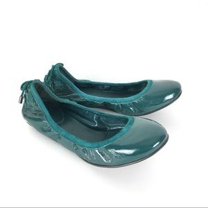 Cole Haan Green Patent Leather Ballet Flats Size 6